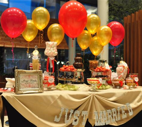 buffet table decorations wedding buffet ideas using balloons for buffet table