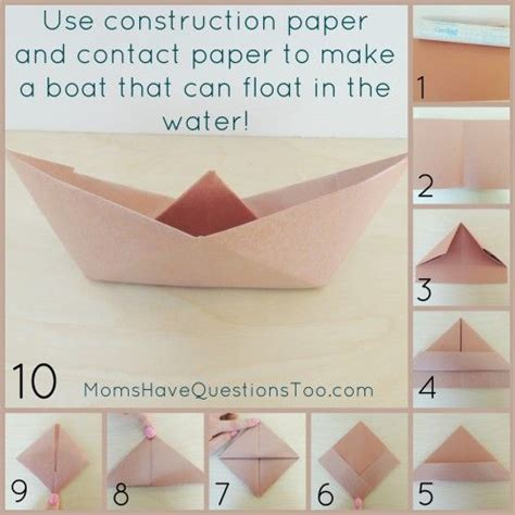 how to make paper boat craft follow these directions to make floating paper boat use