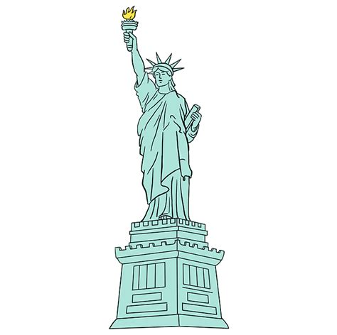 how to draw the statue of liberty really easy drawing