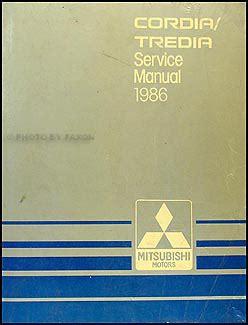 service manual automotive repair manual 1988 mitsubishi cordia instrument cluster service 1986 mitsubishi cordia tredia repair shop manual original