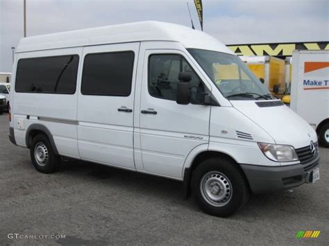 2006 Dodge Sprinter by 2006 Arctic White Dodge Sprinter 2500 High Roof Cargo