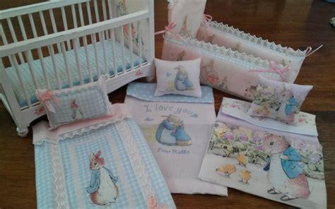 miniature crib bedding 1 12 dollhouse miniature rabbit nursery crib and