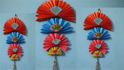 paper hanging crafts diy easy wall hanging craft ideas using colour paper