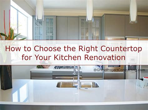 how to choose a kitchen the right countertop for your kitchen renovation
