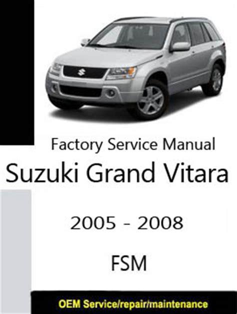 free service manuals online 2007 suzuki grand vitara electronic toll collection suzuki grand vitara factory service repair manuals