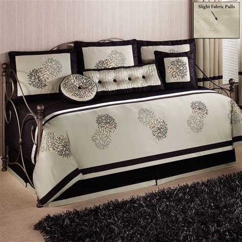 daybed with trundle bedding sets gray stained wooden trundle daybed with white and