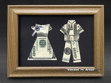 money origami wedding beautiful groom money gift made with three 100