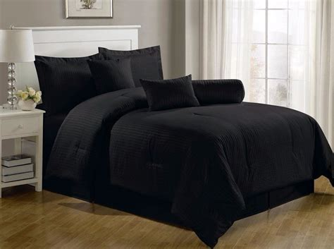 solid comforter set chezmoi collection 7 hotel solid dobby stripe