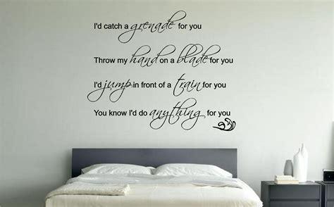 bedroom wall stickers for bruno mars grenade lyrics wall sticker decal