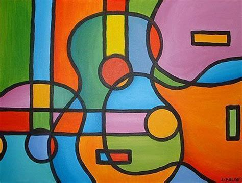 picasso paintings easy abstract guitar painting this is an original painting on