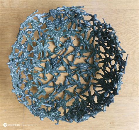 A Diy Fruit Bowl Made From Melted Plastic Army