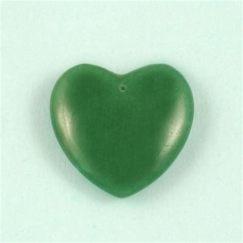green aventurine green aventurine polished drilled hearts 25mm