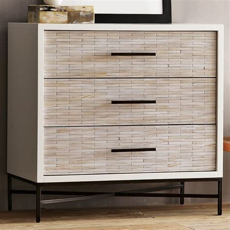 wood bedroom dressers wood tiled 3 drawer dresser modern by west elm