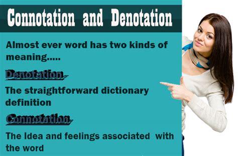 neutral connotation connotation and denotation definition words sentences
