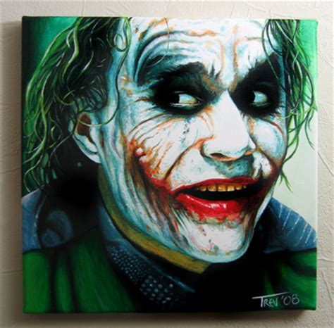 acrylic painting of joker paintings archives trevmurphy