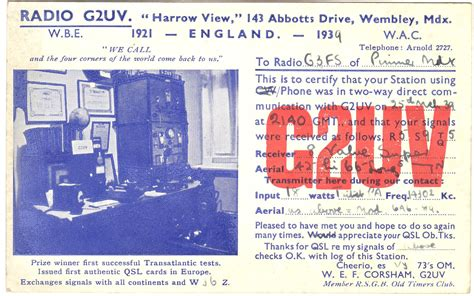 how to make qsl cards the g4uzn historic qsl collection