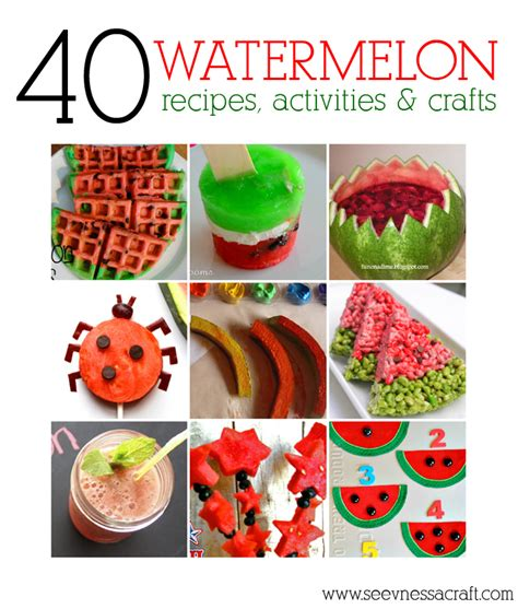 summer food crafts for diy roundup 40 summer watermelon recipes activities