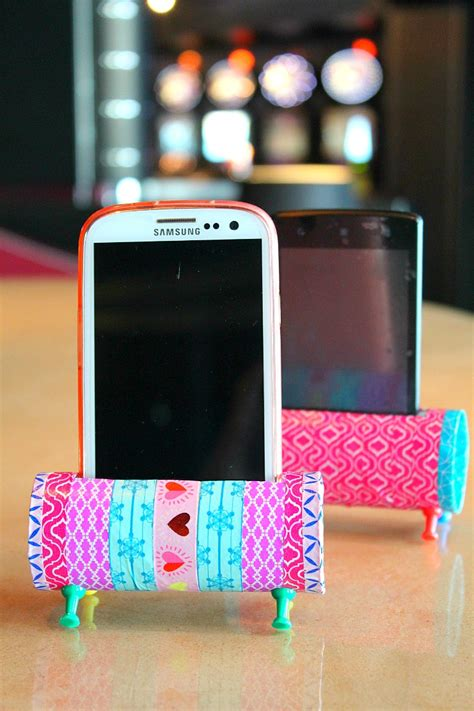holders to make diy phone holder with toilet paper rolls easy craft