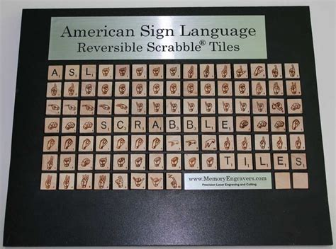 slang in scrabble american sign language asl scrabble 174 tiles want these