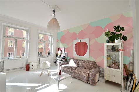 Small Bathroom Colors Ideas bring the essence of summer indoors wall murals in pastel