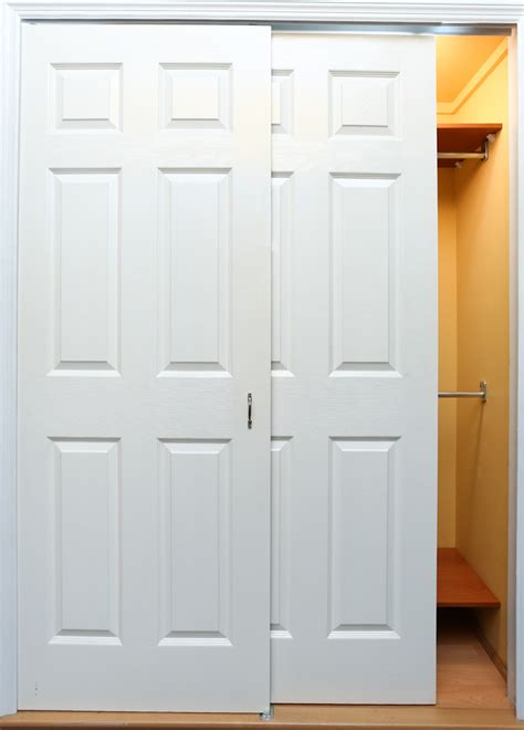 bypass closet door bypass doors closet white bypass closet doors diy