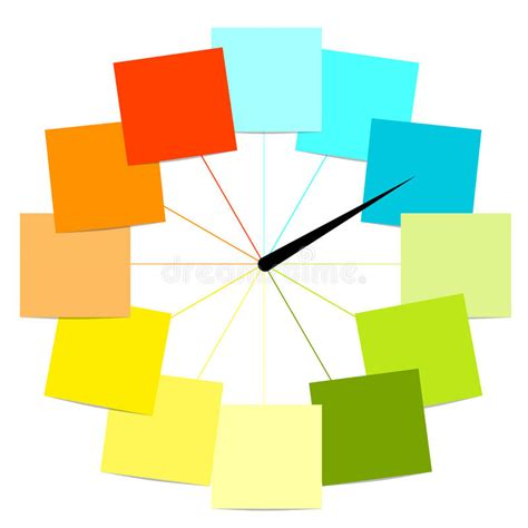 creative clock creative clock design with stickers stock photography