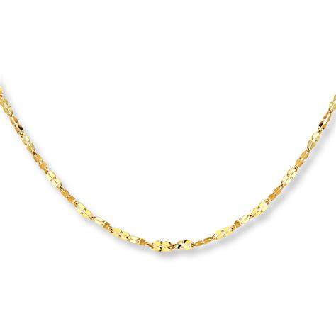 gold chain for jewelry jared link chain necklace 14k yellow gold 18 quot length