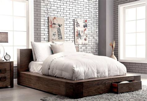 Rugs Sf by Storage Bed In Rustic Finish Fa29 Contemporary Bedroom