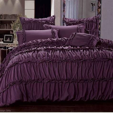 plum king comforter set luxton king size duvet quilt cover set plum purple bedding