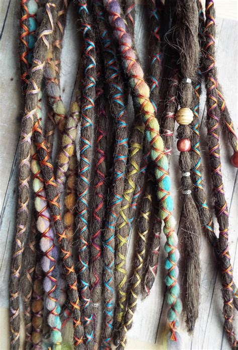 dreadlock and accessories 10 custom standard clip in or braid in synthetic hair and
