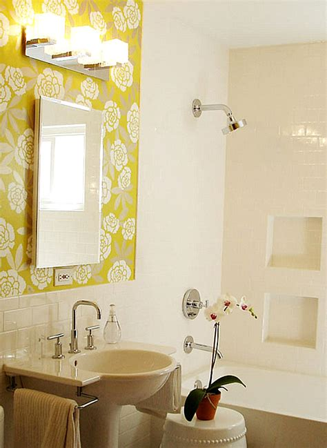 Bathroom Stencil Ideas by Back To 20 Bathroom Makeover Ideas