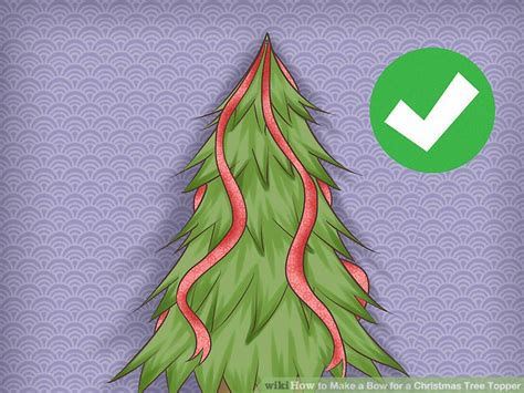 how to make bows for tree how to make a bow for a tree topper 9 steps