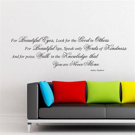 hepburn wall sticker hepburn quote wall stickers by parkins interiors