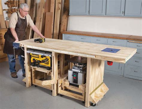 american woodworking richard tendick s power tool bench plans at popular