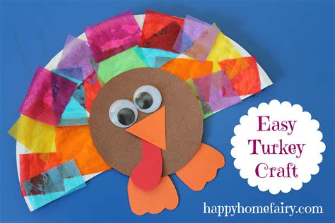 easy thanksgiving crafts for easy turkey craft happy home