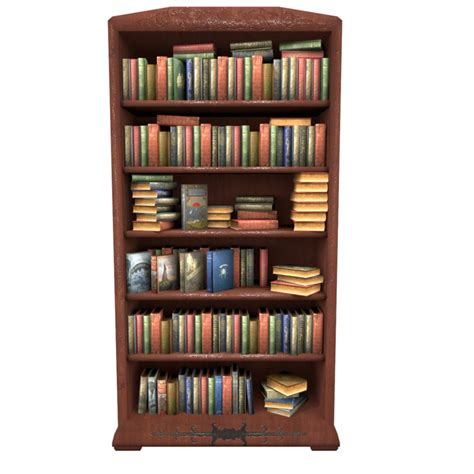 book shelf picture bookcase books obj