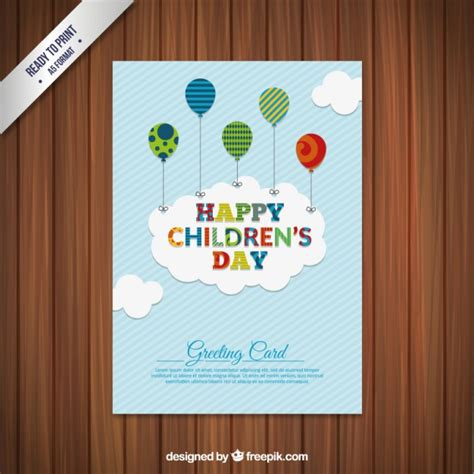 greeting card for children children s day greeting card vector premium