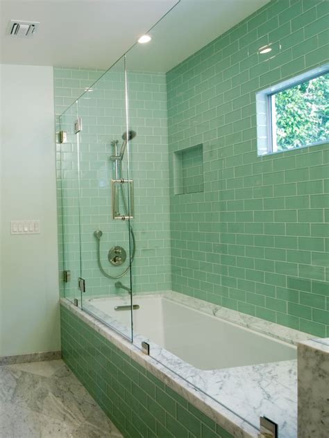 Extremely Small Bathroom Ideas green glass subway tile in surf modwalls lush 3x6 tile