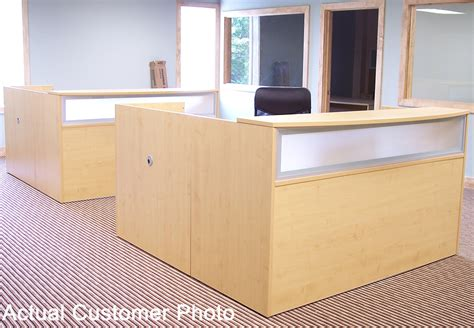maple l shaped desk maple reception desk for 1299 in stock free shipping