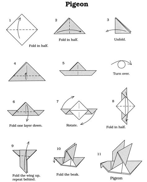 origami patterns for beginners vouwen origami vogel dover publications lesmateriaal