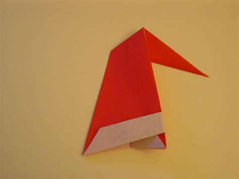 origami santa hat origami santa hat folding how to make an
