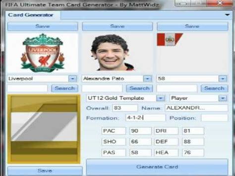 how to make your own ultimate team card how to make your own fifa ultimate team cards