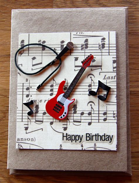 how to make a musical card handmade cards handmade birthday cards band card