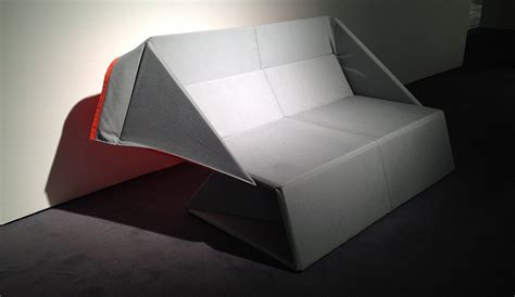 origami sofa origami transforms from a into a mattress in