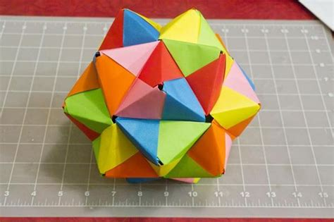 origami math project modular origami how to make a truncated icosahedron