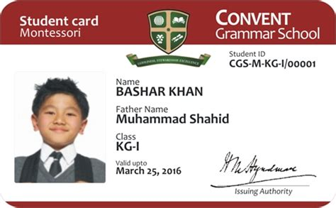 how to make school id cards id cards for convent grammer school on behance