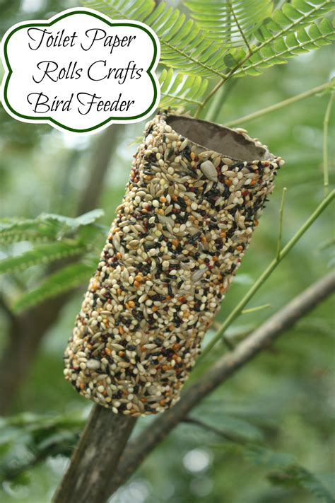 easy bird feeder crafts for recycled toilet paper roll crafts bird feeder