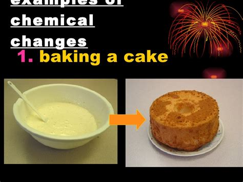 cooking with chagne chemical change exles alisen berde