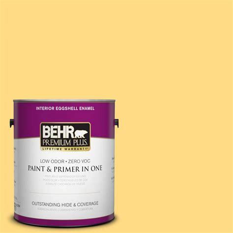 behr paint colors interior yellow behr premium plus 1 gal p290 4 spirited yellow eggshell