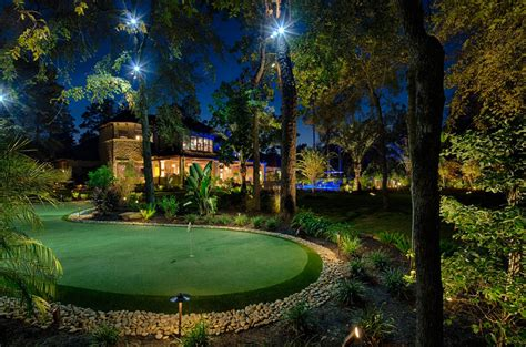 benefits of outdoor landscape lighting houston tx
